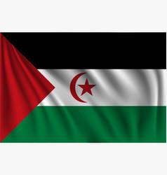 Waving western sahara vector