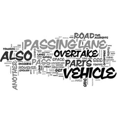 When to pass another vehicle and when not to pass vector