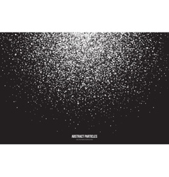 White Shimmer Glowing Round Particles vector