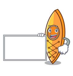 With board canoe character cartoon style vector