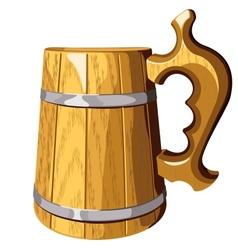 Wooden beer mug No mash no gradient vector image