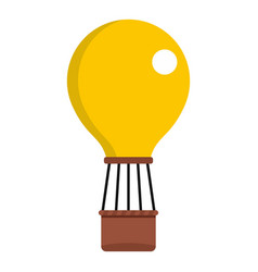 Yellow air balloon icon isolated vector