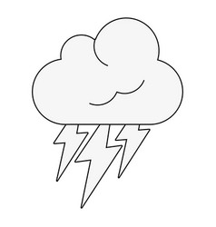 clouds and rains weather vector image vector image
