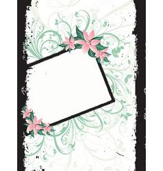 floral grunge border vector image vector image