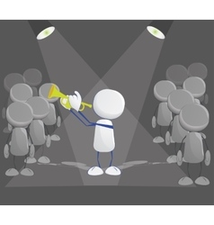 Human icon with trumpet vector image vector image