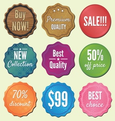 Set of badges and stickers vector image vector image