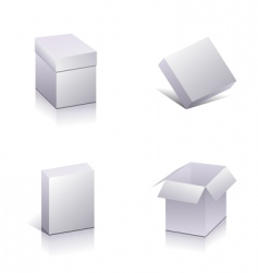 set of blank packing vector image