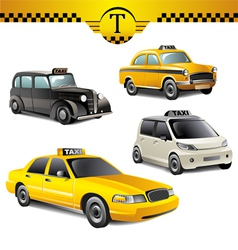 taxi cars vector image vector image