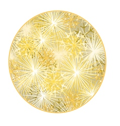 Button circular new year fireworks gold background vector