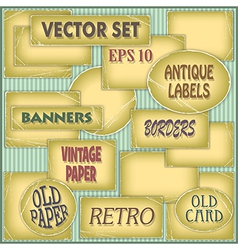 Old Paper Labels vector image vector image