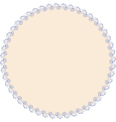 Round with frame vector image vector image