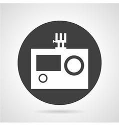 Action camera black round icon vector image vector image