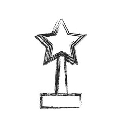 star trophy win prize sketch vector image vector image