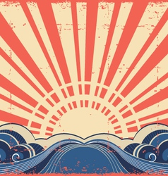 Sunscape grunge imageAbstract poster vector image vector image