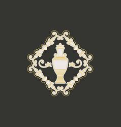 vintage jug symbol vector image