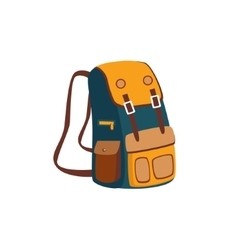Backpack With Yellow Pockets vector image vector image