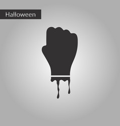 Black and white style icon halloween zombie hand vector