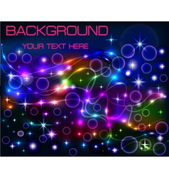 bright shiny neon background with circles vector image vector image