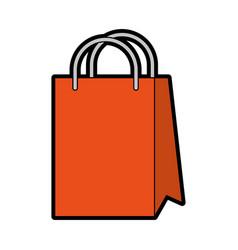 cute shopping bag cartoon vector image