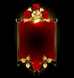 Design with Roses vector image vector image