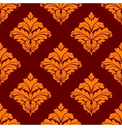 Red and orange floral seamless pattern vector image vector image