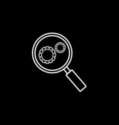research optimization line icon vector image vector image