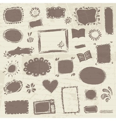 Sketch of frames hand drawing for your design vector image