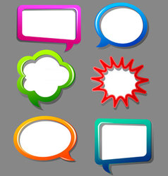 Speech bubble color set vector image