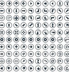 100 Arrows icons set vector