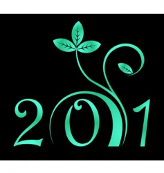 2011 year sign vector image