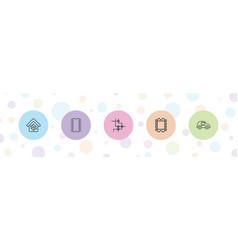 5 circuit icons vector