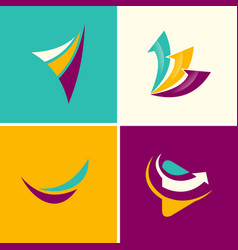 Abstract arrows logos vector