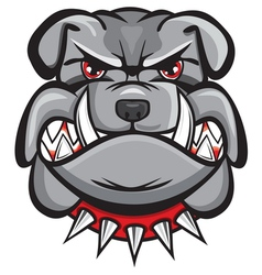 Angry bulldog head vector