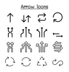 arrow icon set graphic design vector image