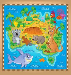 Australian map theme image 2 vector