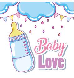 Baby love cute card vector