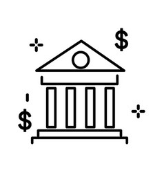 bank building university or courthouse classic vector image