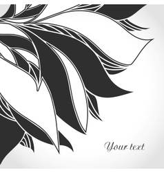 Black and white tattoo pattern vector image