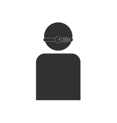 Black icon on white background man silhouette vector