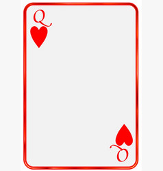 Blank card queen hearts vector