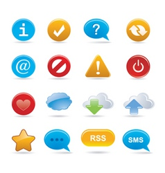buttons and signs vector image vector image