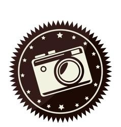 Camera photographic retro style vector