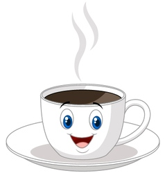 Cartoon cup of coffee vector image