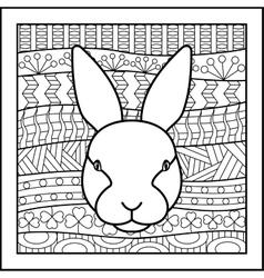Chinese zodiac sign Rabbit vector image