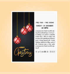 christmas party cards and poster vector image