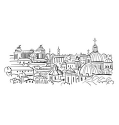 cityscape background sketch for your design vector image