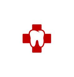 Clinic dental logo icon design vector
