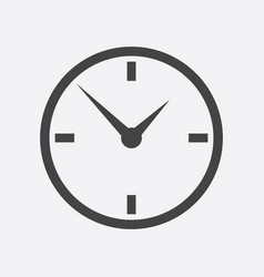 clock icon flat design on white background vector image