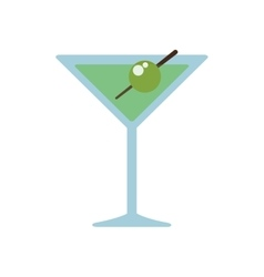 Cocktail drink alcohol glass beverage icon vector