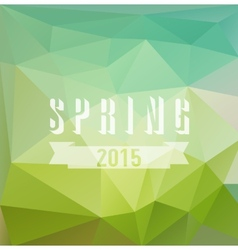 Colored triangular background with spring vector